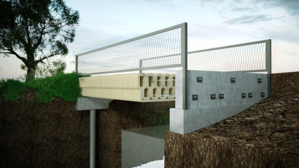 The 3D-printed bridge can support 5 tons